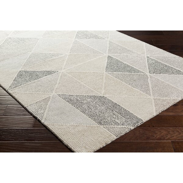 Langley Street Madero Hand Tufted Charcoal/Ivory Area Rug U0026 Reviews |  Wayfair