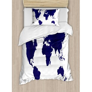 World map crib bedding wayfair all around the world great for a traveler free souls world map art picture duvet set gumiabroncs Choice Image
