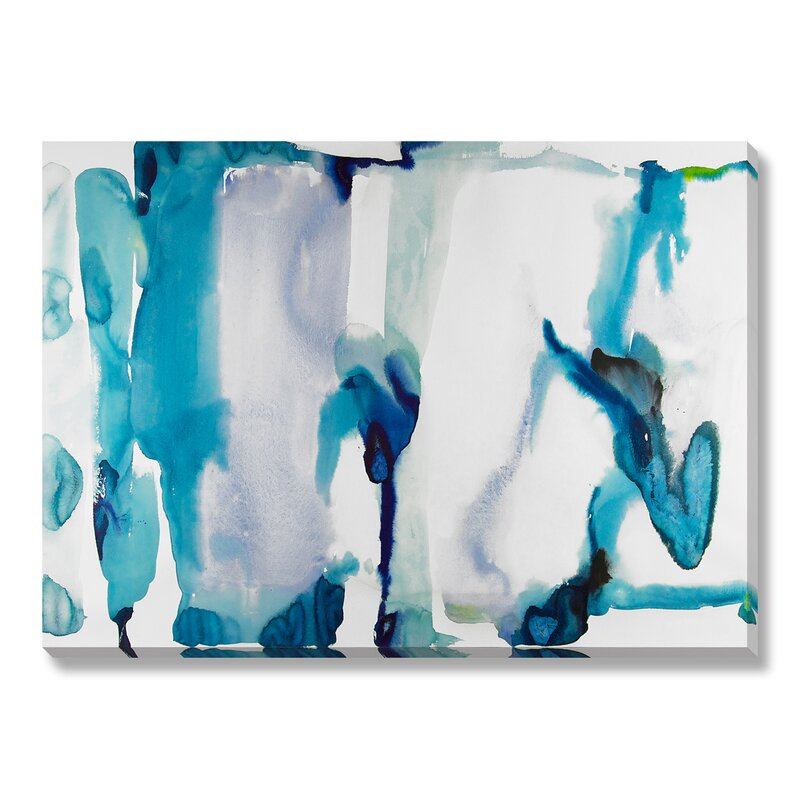 Highland Dunes 'Water I' Watercolor Painting Print on Wrapped Canvas