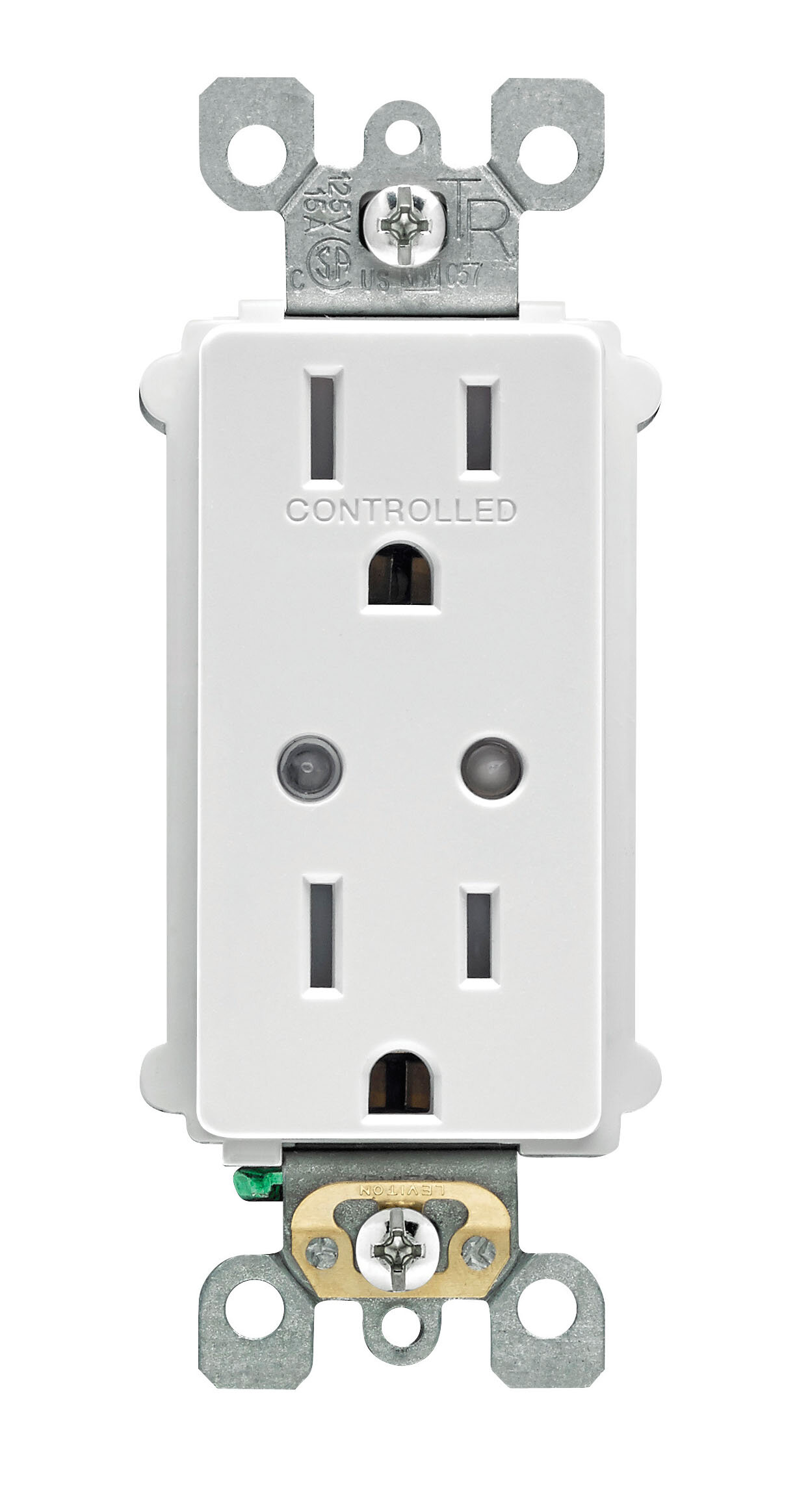 Leviton Decora Smart 15 Amp Tamper Resistant Split Duplex Receptacle Male Plug Wiring Diagram Wall Mounted Outlet With Z Wave Plus Technology Wayfair