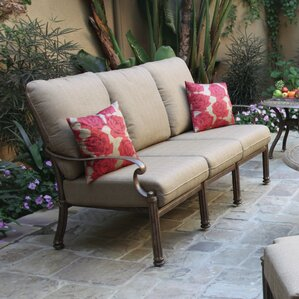 santa barbara deep seating sofa with cushion
