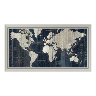 Framed old world map wayfair old world map framed graphic art gumiabroncs Gallery