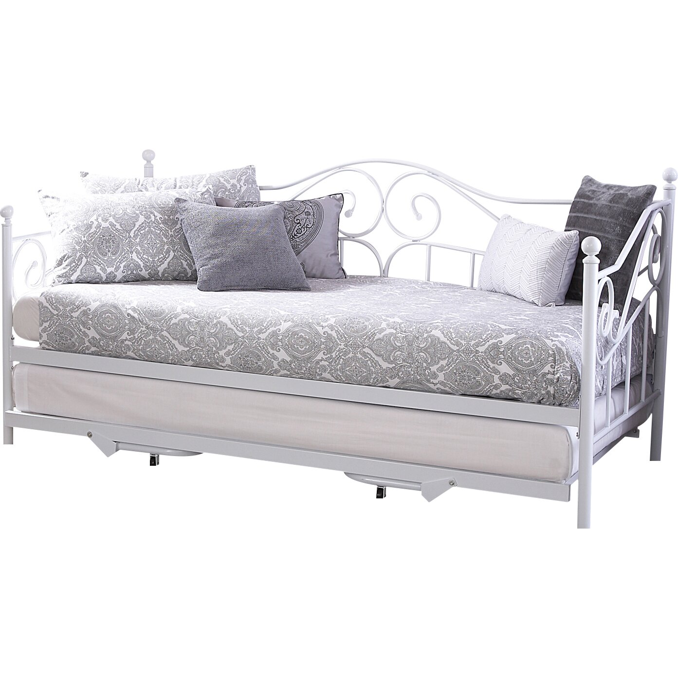 lily manor amberboi daybed with trundle reviews. Black Bedroom Furniture Sets. Home Design Ideas