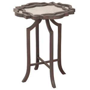 Dawson Carved Top End Table by Bungalow Rose