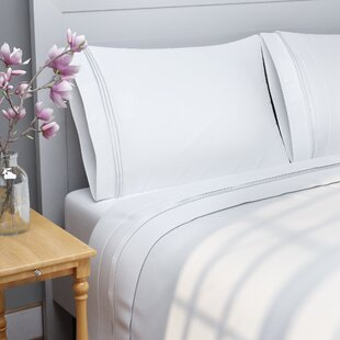 Patric 1000 Thread Count Solid Color 100 Egyptian Quality Cotton Sheet Set