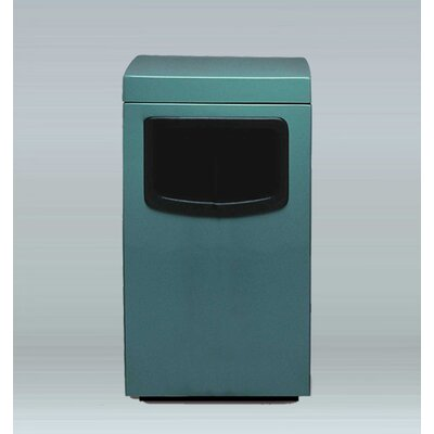 """Amber 30 Gallon Trash Bin Allied Molded Products Size: 44"""" H X 24"""" W X 24"""" D, Color: Dove Gray, Configuration: Trash And Ash"""
