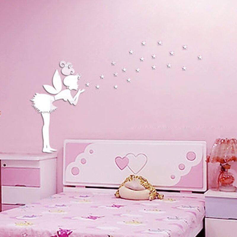 Delicieux Tinker Bell Girl Mirror Wall Art Wall Decal