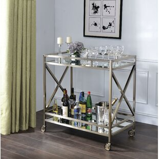 Escobar Metal Framed 2 Tier Bar Cart