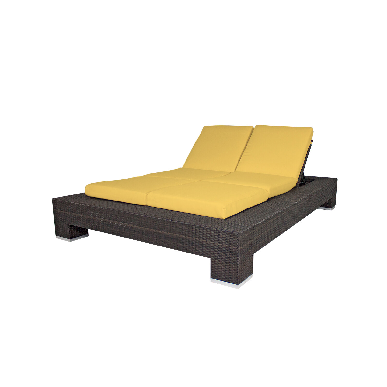 Brayden Studio Ropp Double Chaise Lounge With Cushion Reviews Wayfair