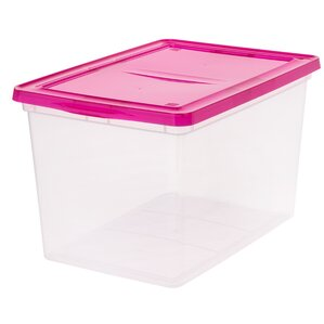 68 quart plastic storage box