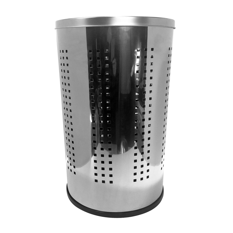 Brayden Studio Industrial Ventilated Stainless Steel Laundry Hamper