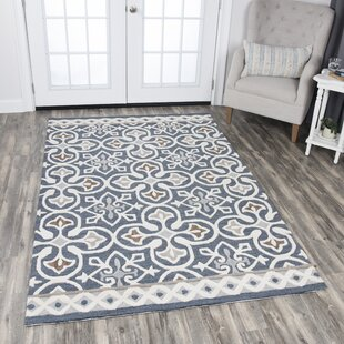 Nordmeyer Hand Tufted Blue Gray Area Rug