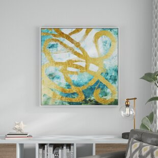 81df69b200b  Gold Curves  Framed Print on Canvas
