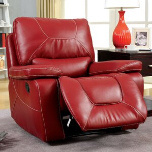 Lockheart Leather Manual Glider Recliner & Red Recliners Youu0027ll Love | Wayfair islam-shia.org