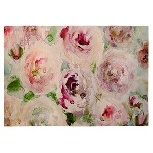 Brush Strokes Floral Pink Indoor/Outdoor Area Rug