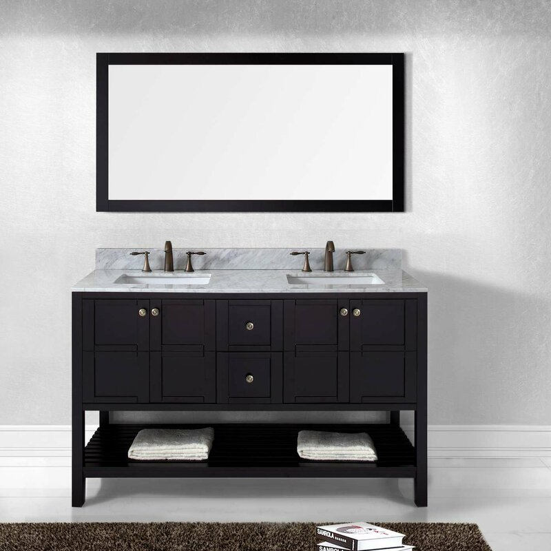 Bathroom Vanity Set. Bob Double Bathroom Vanity Set Willa Arlo Interiors  Reviews