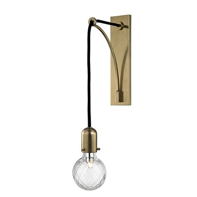 Brayden Studio Kyler 1-Light Armed Sconce Finish: Aged Brass
