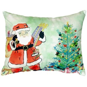 Santa and Tree Indoor/Outdoor Lumbar Pillow