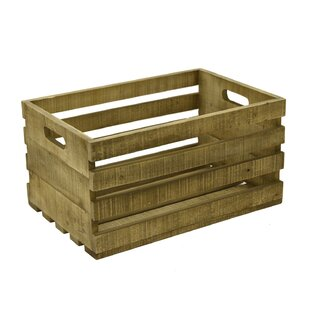 Charmant Record Storage Wood Crate