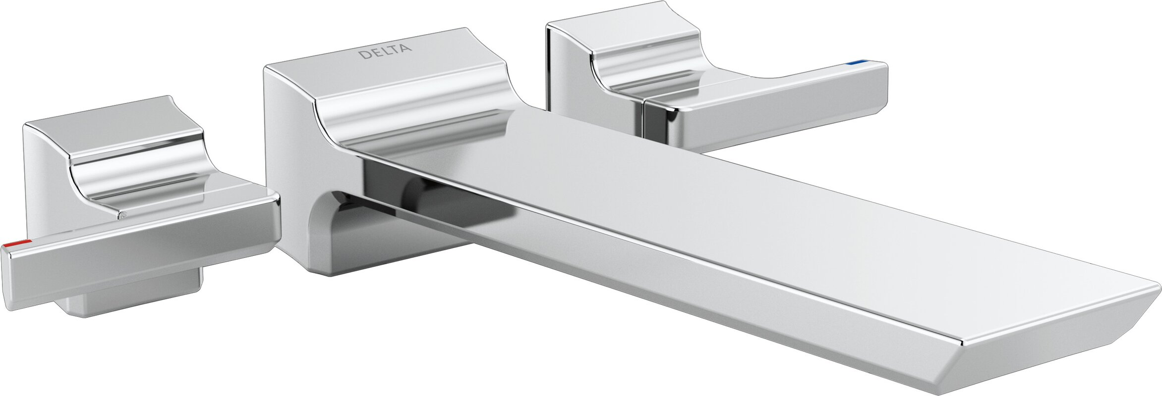 Delta Pivotal Double Handle Wall Mounted Tub Filler Trim & Reviews ...
