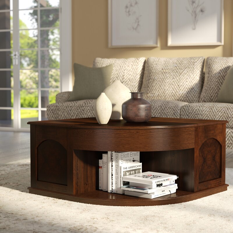 Darby Home Co Wilhoite Coffee Table with Double Lift Top Reviews