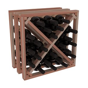 Karnes Redwood Lattice X-Cube 24 Bottle Tabletop Wine Rack by Red Barrel Studio