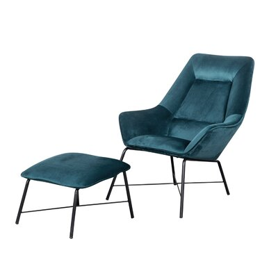 Wrought Studio Camilla Armchair Upholstery Color: Blue