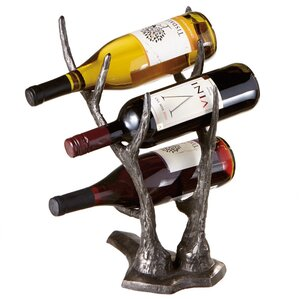 Hilvan 3 Bottle Tabletop Wine Rack by Loon Peak