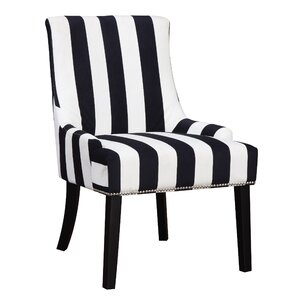 Aicha Stripe Wingback Chair by Willa Arlo Interiors