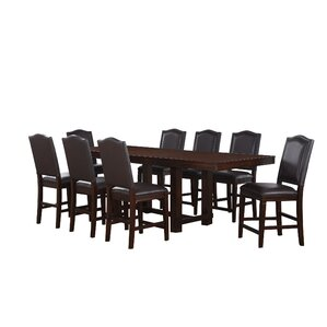Manning 9 Piece Counter Height Dining Set by World Menagerie