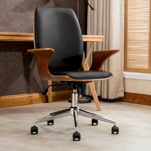 wood office chairs you'll love | wayfair
