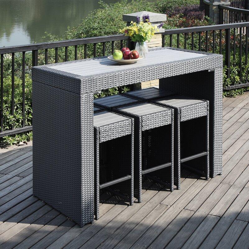 brayden studio devault 7 piece bar height dining set reviews wayfair. Black Bedroom Furniture Sets. Home Design Ideas
