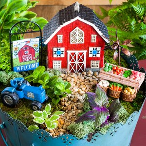 4 Piece Welcome to My Farm Mini Garden Set