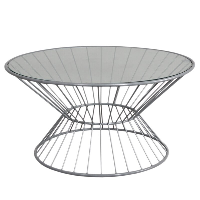 Fashion N You Wire Coffee Table with Glass Top & Reviews | Wayfair