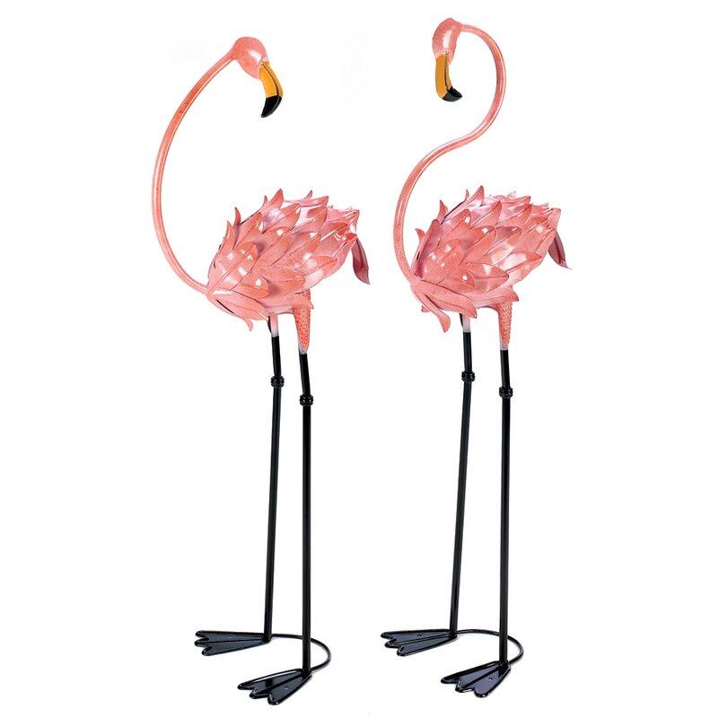 Zingz Amp Thingz Flamboyant 2 Piece Flamingo Garden Stake