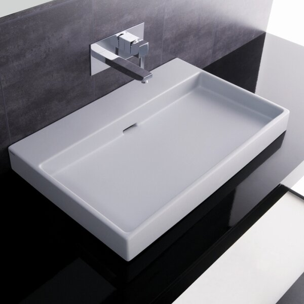 Superbe WS Bath Collections Ceramica I Urban Ceramic Ceramic Rectangular Vessel Bathroom  Sink With Overflow U0026 Reviews | Wayfair