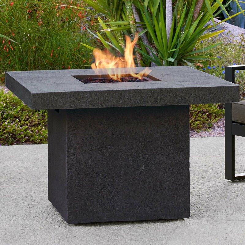 real flame ventura concrete propane fire pit table reviews wayfair. Black Bedroom Furniture Sets. Home Design Ideas