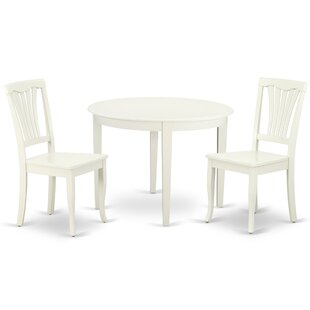 Kowalsky 3 Piece Solid Wood Breakfast Nook Dining Set