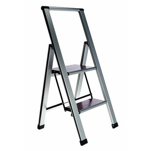Folding 2 Step Ladder With 250 Lb Load Capacity