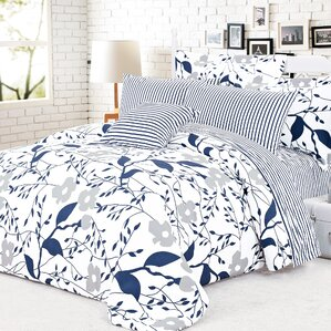 cynthia 4 piece reversible duvet cover set