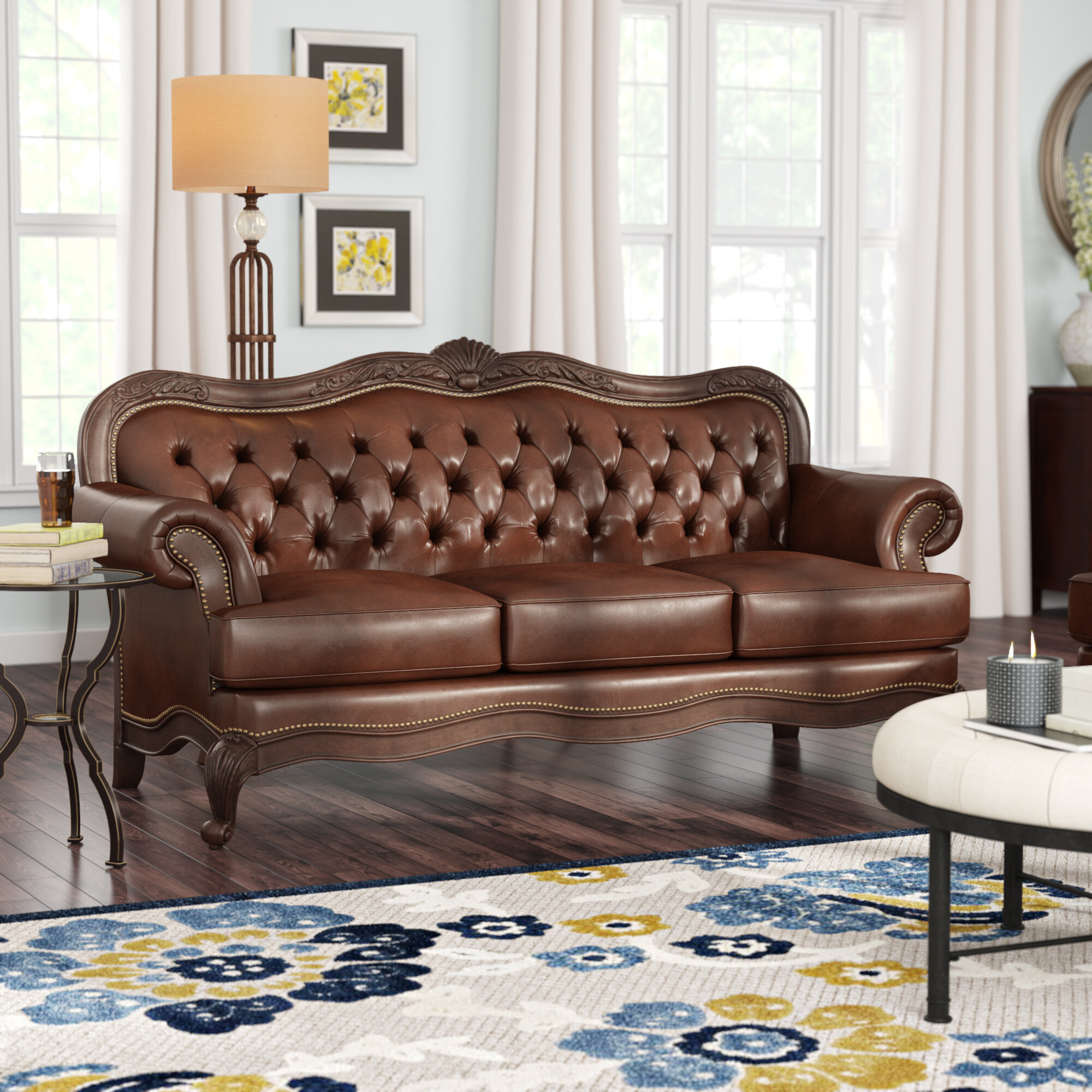 Smith Leather Sofa