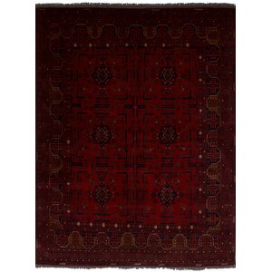 Lelia Hand-Knotted Wool Red Oriental Area Rug