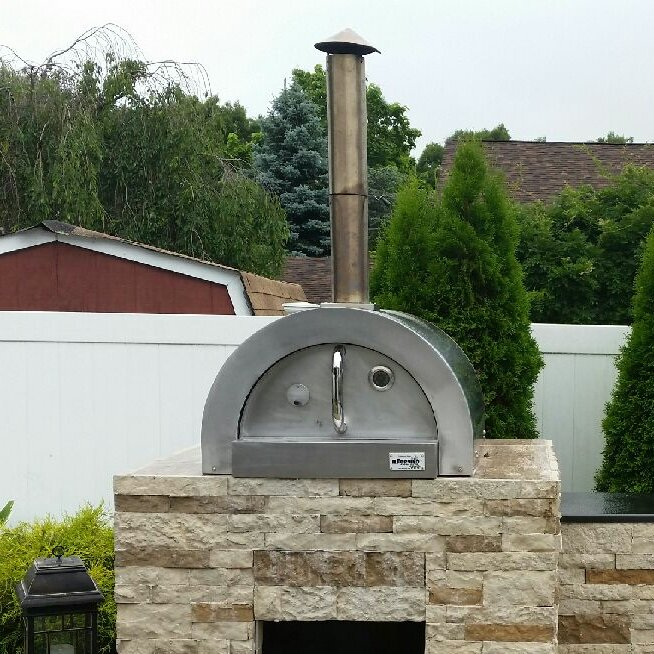 ilFornino F- Series Mini Basic Stainless Steel Wood Fired Pizza Oven on