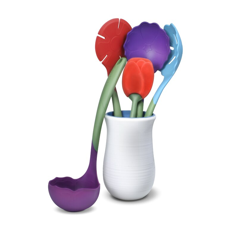 Flora Plastic Kitchen Utensil Set