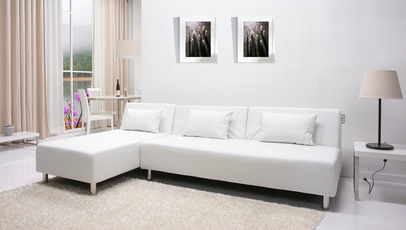 Ricardo Reversible Sleeper Sectional : sectional sofas with bed - Sectionals, Sofas & Couches