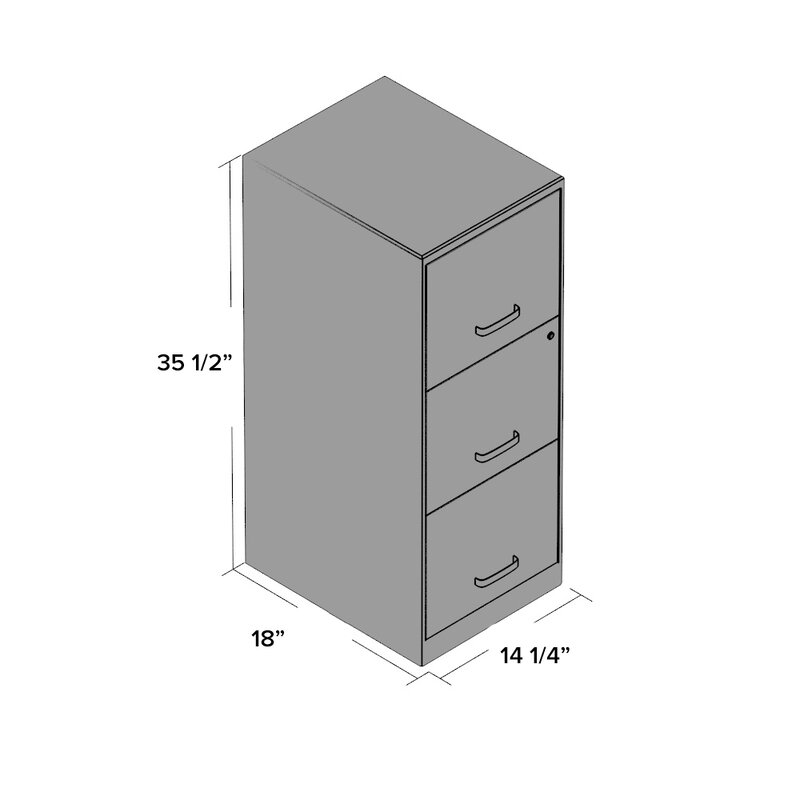 Carson 3 Drawer Vertical File Cabinet