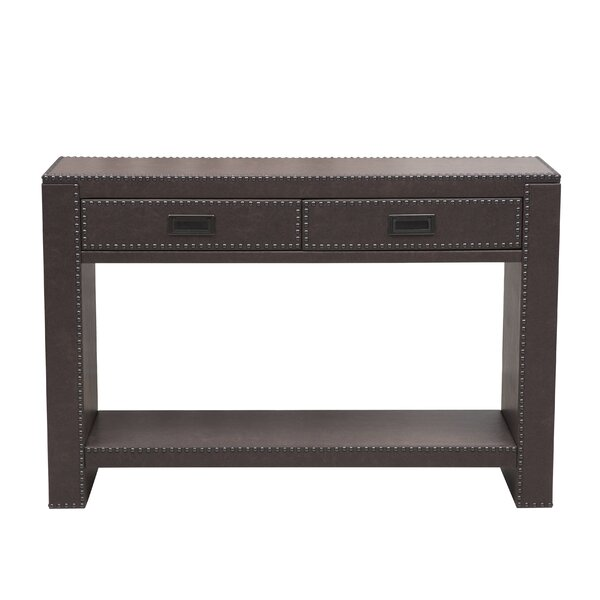 Attirant Alcott Hill Beecher Faux Leather Drawer Console Table With Nail Head Trim U0026  Reviews | Wayfair