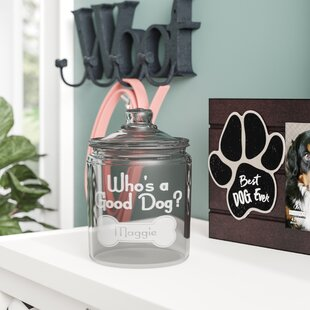 Personalized Who S A Good Dog 2 Qt Pet Treat Jar