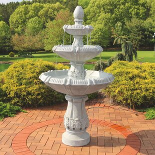 3 Tier Gothic Finial Outdoor Garden Water Fountain