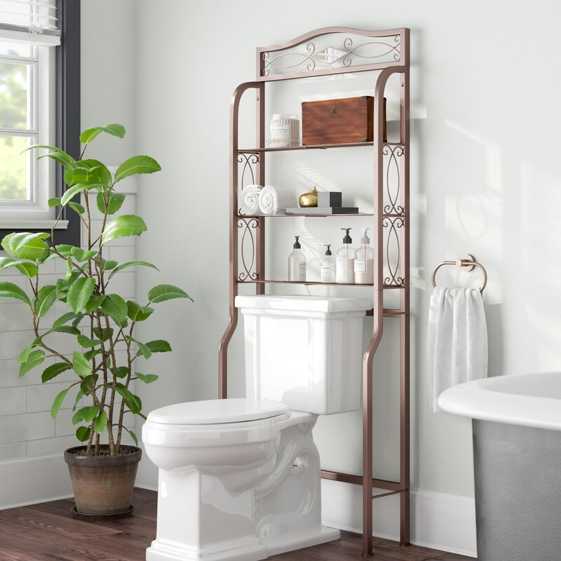 Short Bathroom Space Saver Over The Toilet Storage Cabinets Wayfair 25 Bathroom Space Saver